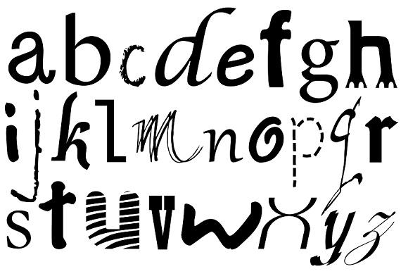 výstřední fonty
